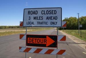 marathon county 2012 road closed